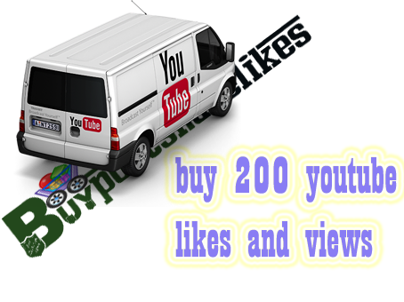 buy 200 youtube likes and views